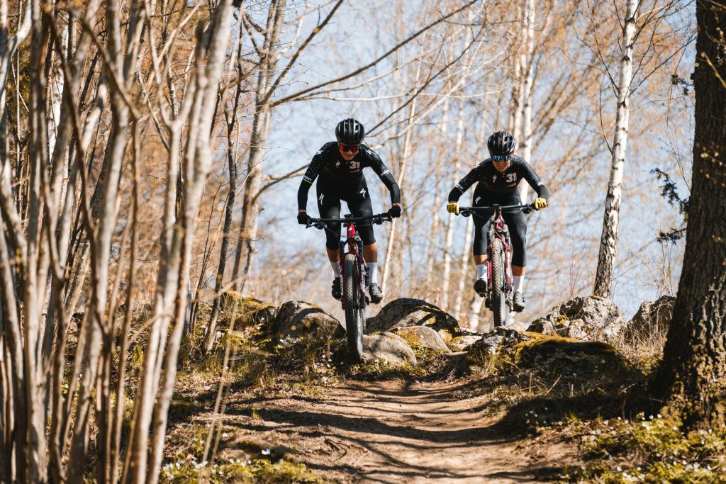Jenny Rissveds & Kelsey Urban - Team31:Outride riding in the woods